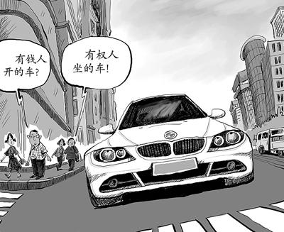 卡通手绘宝马汽车